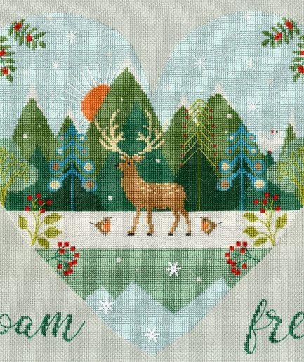 Bothy Threads roam free winter borduurpakket