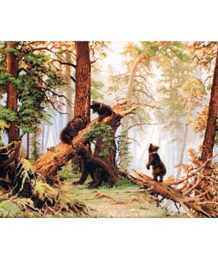 Beren in bos borduurpakket
