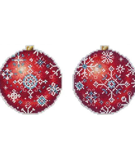 Kerstballen borduren voor in kerstboom