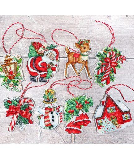Kerstboomhangers borduren